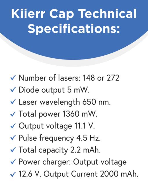 Kiierr Cap Technical Specifications